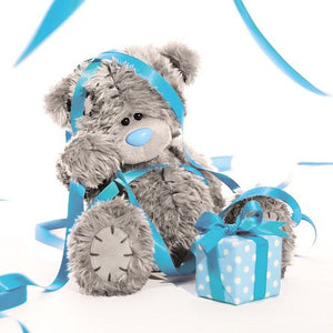 Bear Tangled in Streamers Birthday Card (3D Holographic)