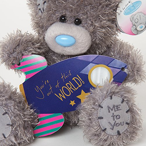 You're Out of this World - Spaceship Plaque - 6'' Bear