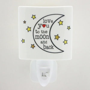 LED Ceramic Night Light - Love you to the Moon and Back