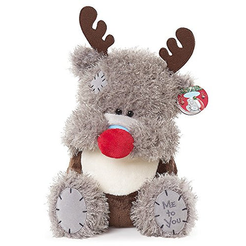 Teddy in Reindeer Costume - 9'' Bear