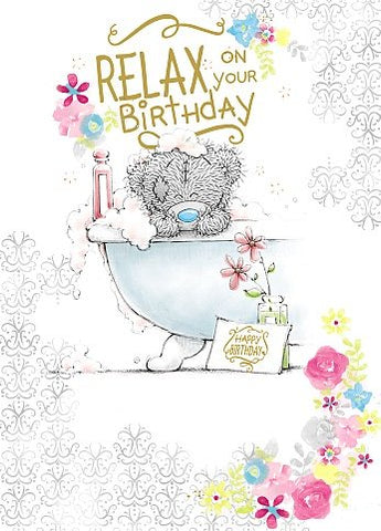 Bear in Bath Tub - Birthday Card