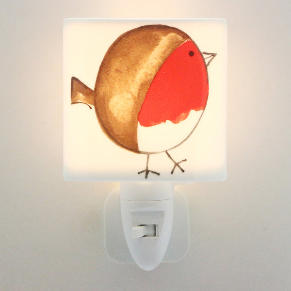 LED Ceramic Night Light - Fat Robin Design