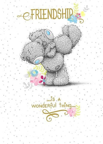 Bears Playing Together - Friendship Greetings Card