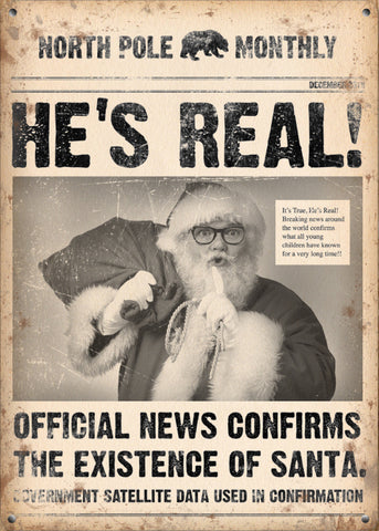 North Pole Monthly - He's Real (Small)