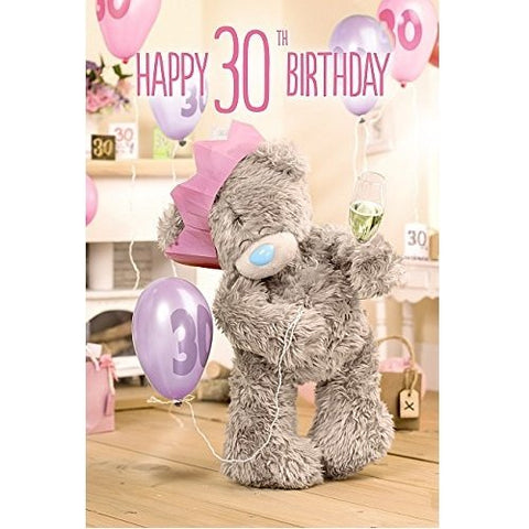 Happy 30th Birthday Card (3D Holographic)