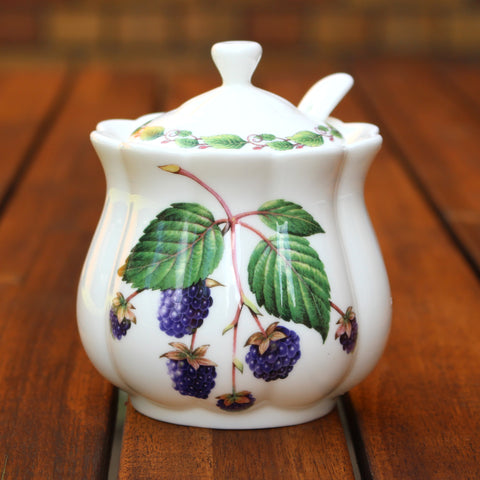 Classic Jam Pot and Spoon - Blackberry