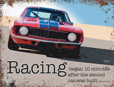 Motor Racing - Began 10 minutes after the second car was built (Small)