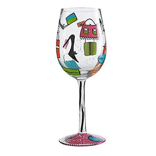 Shopaholic Too Wine Glass