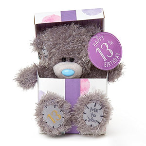 13th Birthday Teddy sitting in Gift Box - 7'' Bear