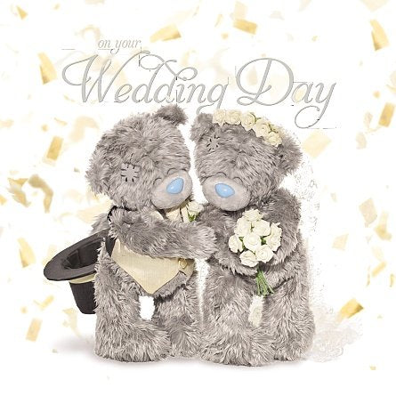 On Your Wedding Day Card (3D Holographic)