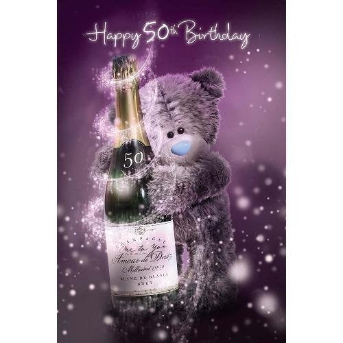 50th Birthday Card (3D Holographic)