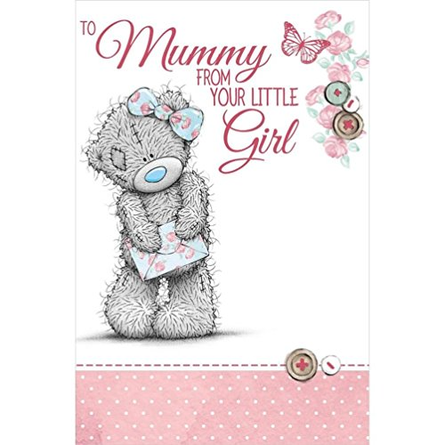To Mummy from your Little Girl - Mother's Day Card