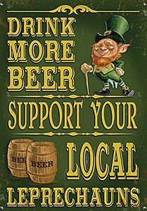 Drink More Beer - Support Your Local Leprechauns (Small)