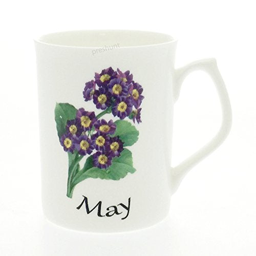 Flower of the Month Fine Bone China Mug - May