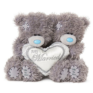 Just Married Heart - 4'' Bear Couple