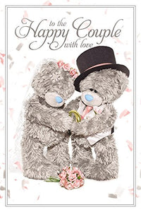 Happy Couple Wedding Card (3D Holographic)