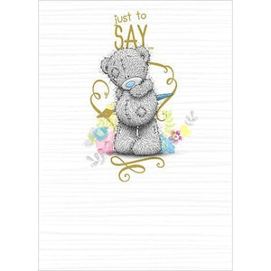 Bear with Pen - Blank Card