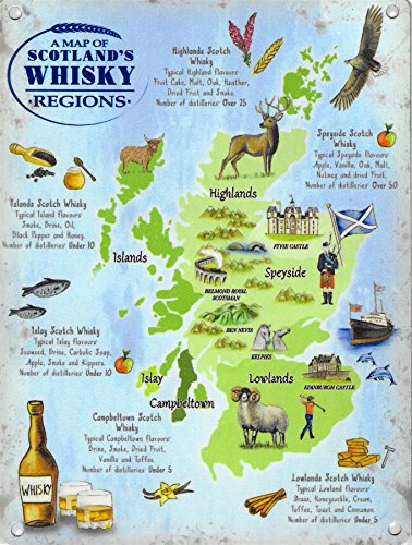 Scotland Whisky Regions Map (Small)