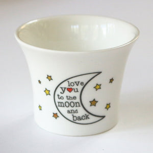 Bone China Tea Light Holder - Love you to the Moon and Back
