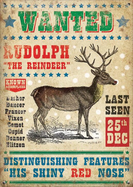 Wanted - Rudolph the Reindeer (Small)