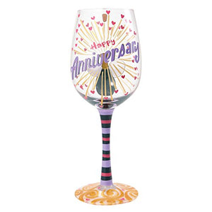 Happy Anniversary Wine Glass