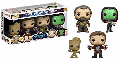 Guardians of the Galaxy Vol.2 - Groot/Star-Lord/Ego/Gamora 4 Pack