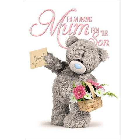 Amazing Mum - From your Son - Mother's Day Card (3D Holographic)