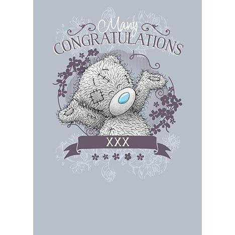 Celebrating Bear - Many Congratulations Well Done Card