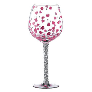 Superbling Pretty Girl Large Wine Glass