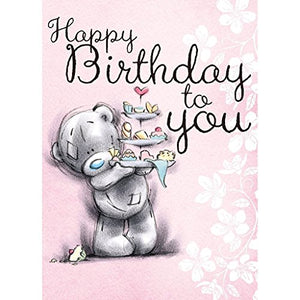 Bear with Cake Stand - Birthday Card