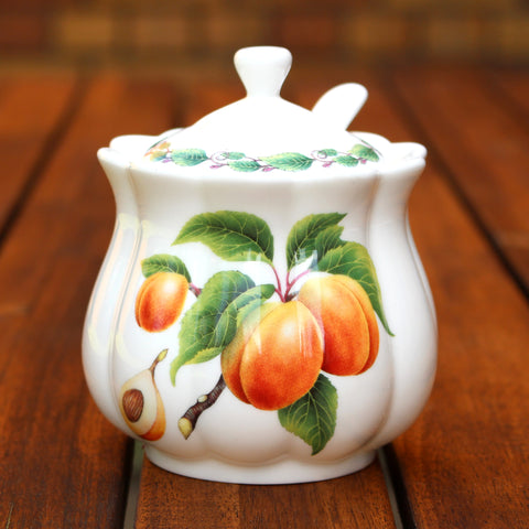 Classic Jam Pot and Spoon - Apricot