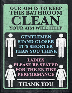 Your Aim Will Help - Toilet Sign (Small)