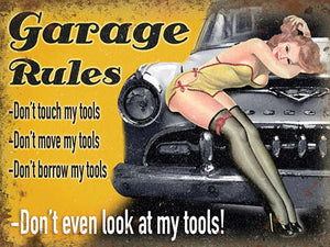 Garage Rules - Don't... (Small)