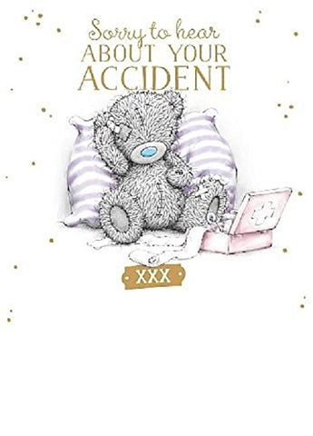 Bear with First Aid - Accident Sympathy Get Well Card
