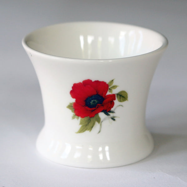 Remembrance Poppy Bone China Tea Light Holder - We will remember them…