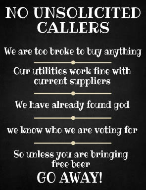 No Unsolicited Callers (Small)
