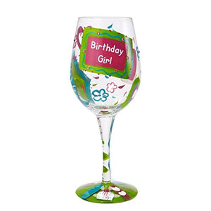 Birthday Girl Too Wine Glass