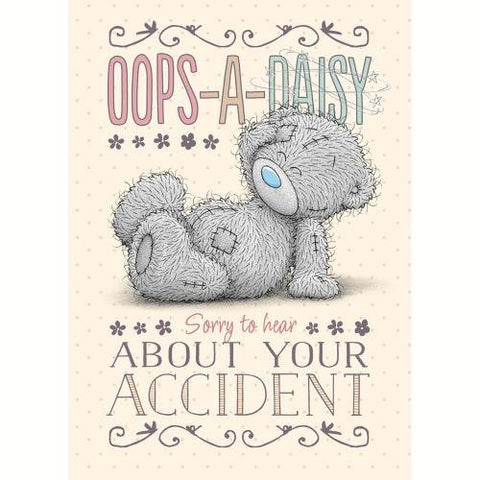 Bear Slipped - Oops-A-Daisy - Accident Sympathy Get Well Card