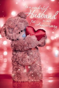 Husband 1st Anniversary Card (3D Holographic)