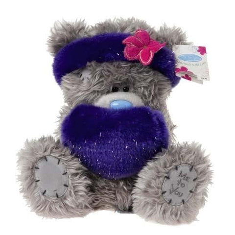 Fluffy Headband and Muff - 7'' Bear
