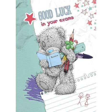 Bear Revising - Exams Good Luck Card