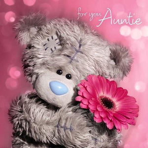 Auntie Birthday Card (3D Holographic)