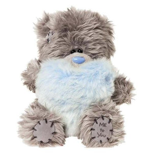 Blue Fur Heart - 5'' Bear