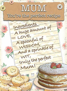 Mum - Perfect Recipe (Small)