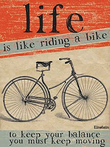 Life Is Like Riding A Bike (Small)