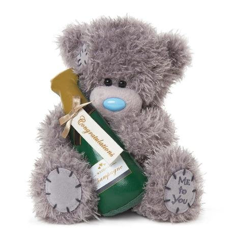 Congratulations Champagne Bottle - 7'' Bear