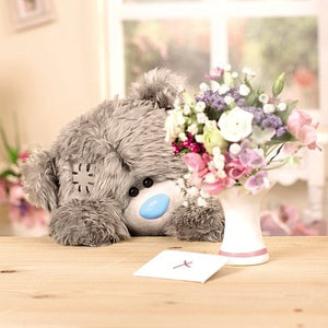 Bear by Bouquet With Love Greetings Card (3D Holographic)