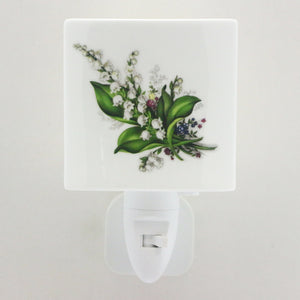 LED Ceramic Night Light - Lily of the Valley Design