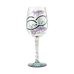60th Birthday Wine Glass