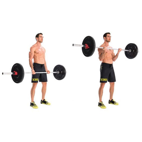 standing barbell bicep curl